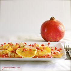 Salmon, Orange & Pomegranate Salad