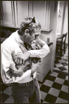 Steve McQueen & his kitty