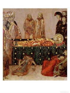 Curing the Sick on the Day of the Death of St. Louis of Toulouse 1317    by Simone Martini