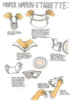Paper napkin etiquette! http://www.paperline.it/