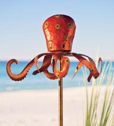 metal octopus, octopus garden, garden wind