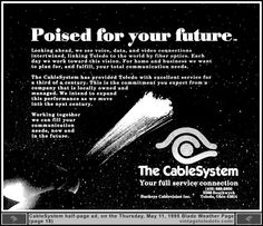 Vintage Toledo TV - Buckeye CableSystem - Poised for your future...The CableSystem (Thu 5/11/95 half-page ad) #FiberOptics #cable #CableTV #TV