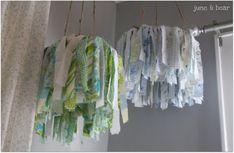 bed sheet chandelier