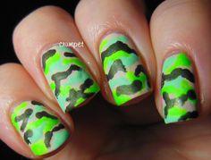 fashion, 243 camouflag, neon green, nail designs, camouflag stuff, neon camouflag, green nails, coats, camouflage