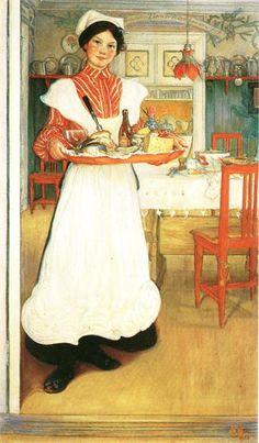Martina with Breakfast Tray breakfast tray