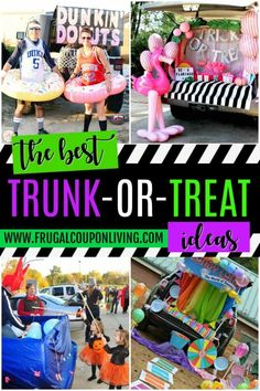 The Best Halloween Trunk or Treat Ideas Theme trucks cars suvs and vans. Easy church Halloween ideas including games and popular Halloween themes #FrugalCouponLiving #halloween #trickortreat #trunkortreat #church #awana #halloweendecorations #halloweendecor #halloweendecordiy #halloweendecorideas #party #partyideas