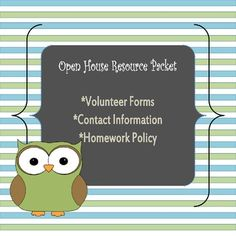 Open House Resource Packet