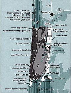 Florence Map Oregon Dunes National Recreation Area