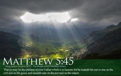 "Matthew 5:45 / Bad things happen to ""good"" people too."