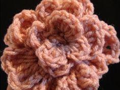 Easy crochet flower video tutorial.