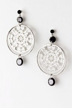 Jet Boho Filigree Earrings on Emma Stine Limited