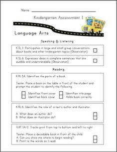 Common Core Kindergarten assessments.