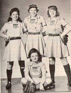 the game, histori, allamerican girl, girl profession, girl basebal, baseball, basebal leagu, sport, 1940