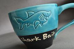 Shark Bait Mug Ready To Ship Shark Bait Soup by symmetricalpottery