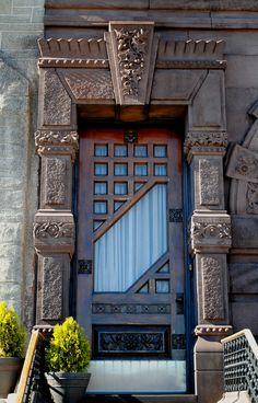 Art Deco Door at St. Rita of Cascia (David Garrison House), South Broad Street, Philadelphia - Photo by David Swift
