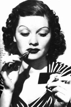 Lucille Ball Max Factor lipstick ad, c 1930s