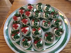 Michigan State strawberries that I made for a medical graduation party.