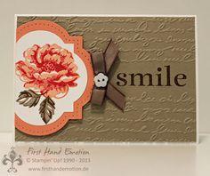 Stampin' UP! by First Hand Emotion: IN{K}SPIRE_me Challenge #119 Stippled Blossoms Happy Day