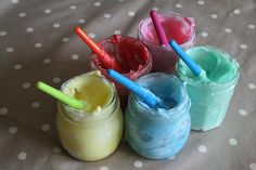 Lots of messy play things. edible fingerpaint, sand, colored spaghetti