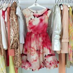 Water color floral dress