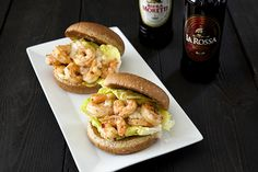 Spicy Shrimp Sliders with Celery Mayonnaise -