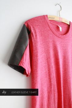The Forge: diy: leather sleeve shirt