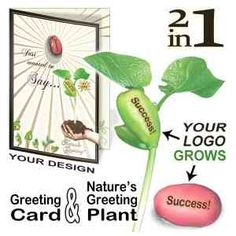 Nature's Greeting Card - Grow Your Greeting on a live plant