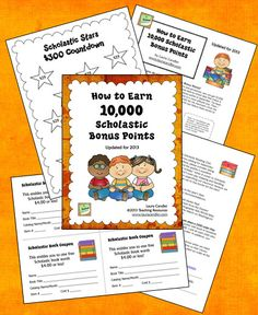 How to Earn 10,000 Scholastic Bonus Points in 2013! Free packet of printables and strategies from Laura Candler about a system that has worked for hundreds of teachers over many years. It's easier than you think!