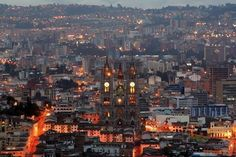city of quito, alive at night