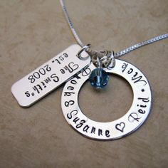 Family Tag and Loop Necklace