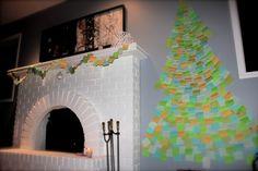 post it christmas tree