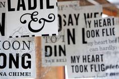Typography inspired wedding! #weddingmonth #typography
