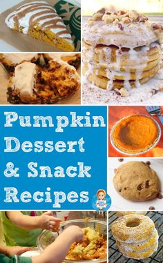 Don't miss these delicious kid friendly pumpkin dessert recipes!
