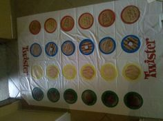 Girl Scout Cookie Twister for troop cookie rally. Girls can play this while I train new parents.