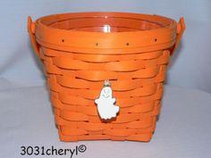 Orange Longaberger basket