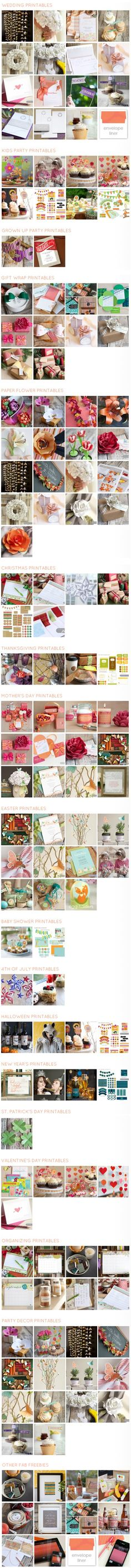 Free printables and templates galore - from Ellinée http://www.ellinee.com/blog/fabulous-freebies/