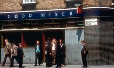 Camden Town pub the Good Mixer and its customers in the 1970s. Photo by Richard Friedman