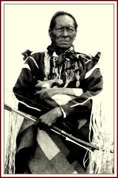 Professor Starr, a Taos Pueblo man. Photographed between 1880-90.