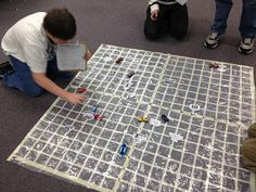 Here's a great idea for setting up a floor size coordinate grid for working with ordered pairs.