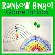 Fun St. Patrick's Day activity for kids! And/or fun way to practice numbers and colors.