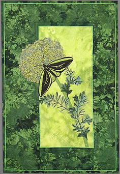 Color My World Green ©Marlene Woodfield.  Pacific Art Quilt Alliance color challenge