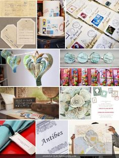 travel theme, wedding themes, paper hearts, theme parties, inspiration boards, shower, themed weddings, travel wedding, theme weddings