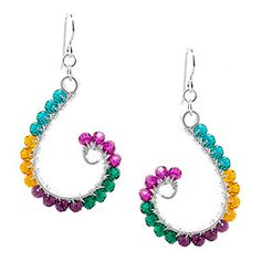 Make Me! Curl It Up Earrings   Fusion Beads Inspiration Gallery