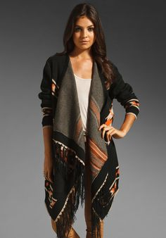 WISH Alarra Cardi in Rust Aztec at Revolve Clothing - Free Shipping!