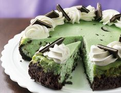 Grasshopper Cheesecake! Yum!