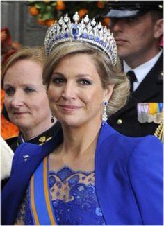 The Royal Order of Sartorial Splendor: Inauguration Special: Máxima in Mellerino Sapphire Tiara