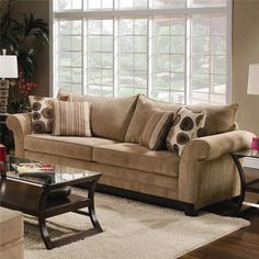 $559 Stationary Sofa by United Furniture Industries - Gardiners Furniture - Sofa Baltimore, Towson, Pasadena, Bel Air, Westminster, Catonsville, Maryland