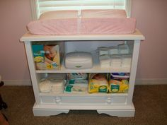 Made Changing table from old console TV!