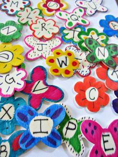 garden alphabet play for kids