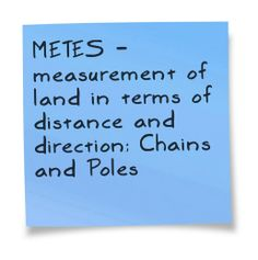 North Carolina is a Metes and Bounds State - measured in terns of distance and direction and what the land is bound by, ie, waterways, lands, buildings, etc.